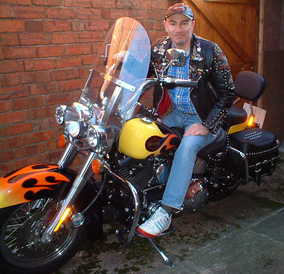 On my Harley Davidson Heritage Soft-Tail Classic 1500cc JPEG