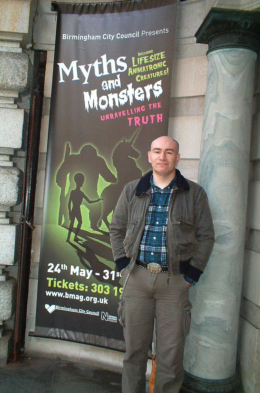 Dr Karl Shuker at 'Myths and Monsters' Exhibition JPG