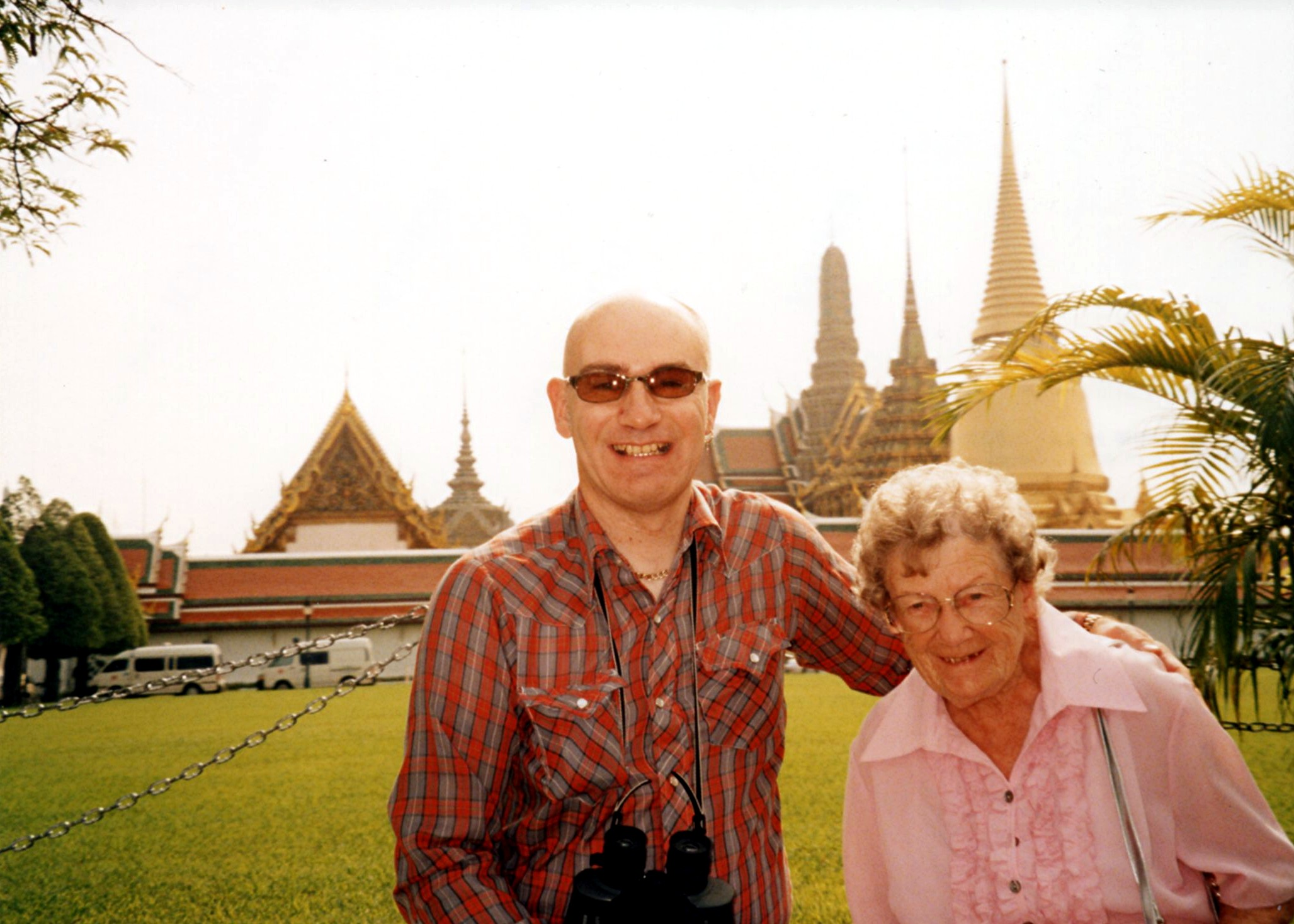 Mom and I at the Royal Palaces, Bangkok, Thailand, in 2005 JPG